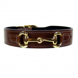 Halsband Gucci Style gold dunkelbraun
