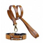54% SALE: Halsband & Leinen Set: Horse Style nickel hellbraun Einzelstück! Preisreduktion von 149 Euro nun  67 Euro